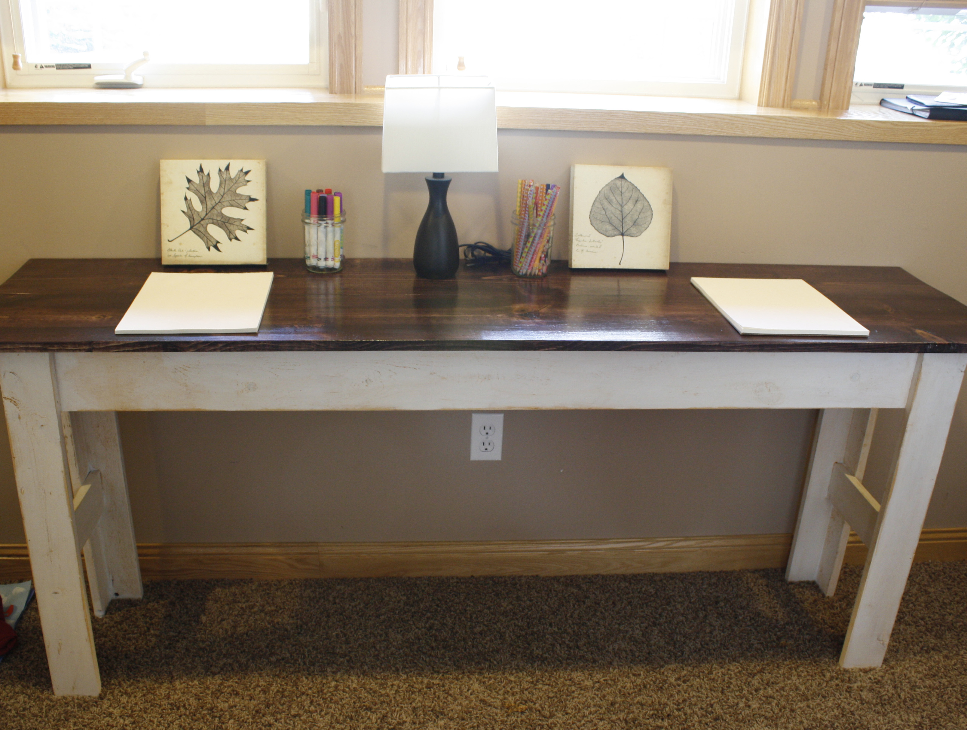 Farmhouse table new kids desk patchwork reality