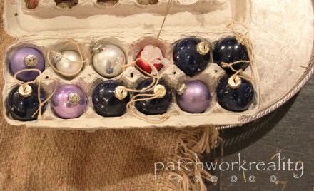 Egg carton ornament storage @patchworkreality